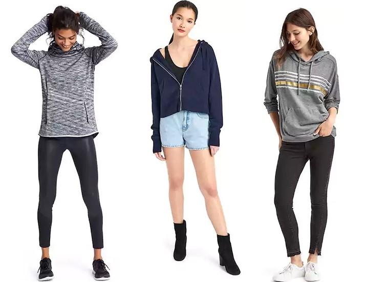 Bluzy GAP stylizacje (źródło gap.com)