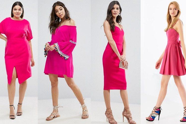 Sukienka fuksja [pierwsze trzy: asos.com | czwarta: mohito.com]