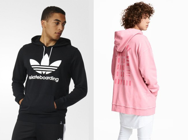 Bluzy męskie z kapturem (źródła: adidas.pl, hm.com)