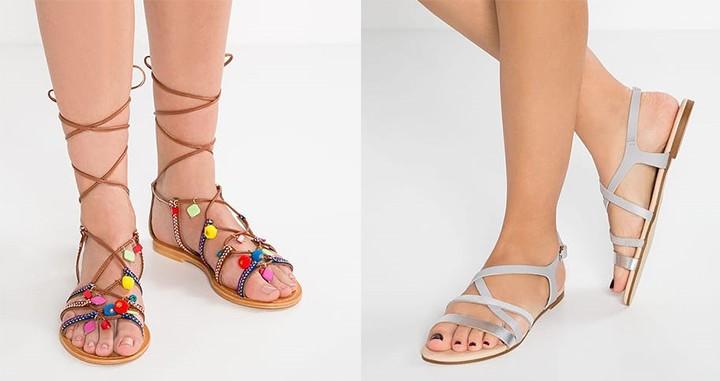 Sandały rzymianki i płaskie [zalando.pl]