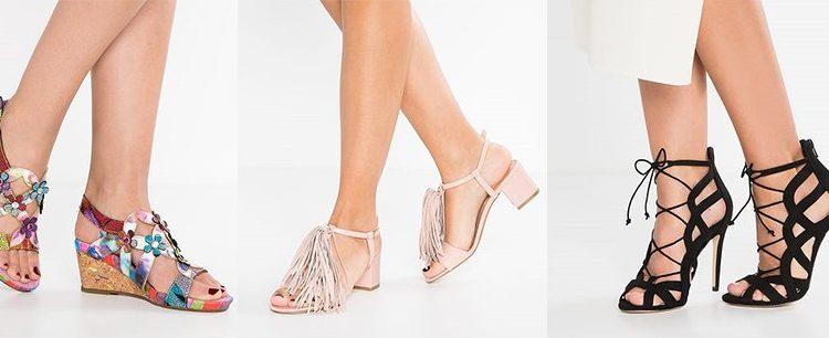 Sandały na koturnie, sandały na słupku i sandały na szpilce [zalando.pl]