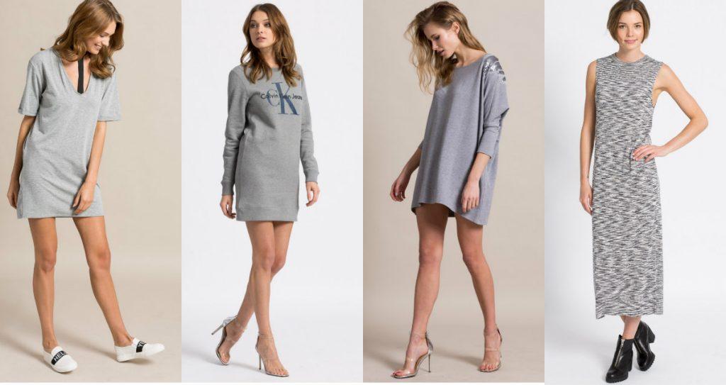 Szara sukienka dresowa - propozycje różnych marek z Answear (fot. answear.com)
