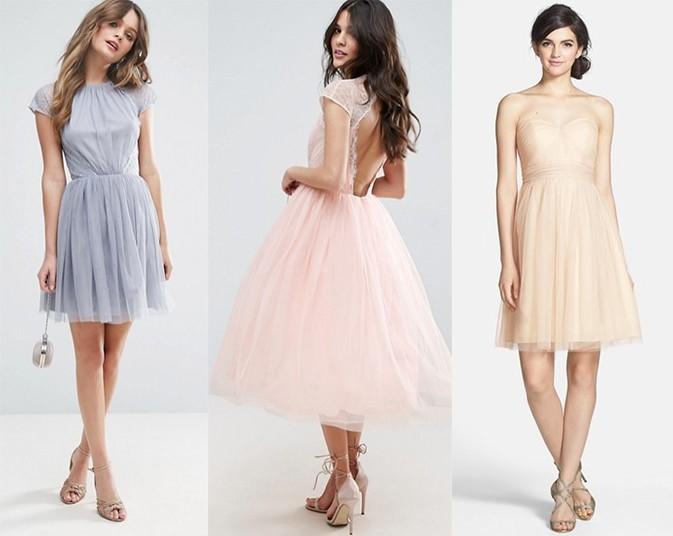 Sukienki tiulowe [pierwsze dwie: asos.com | trzecia shop.nordstrom.com]