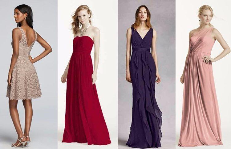 Sukienka na wesele, źródło: davidsbridal.com