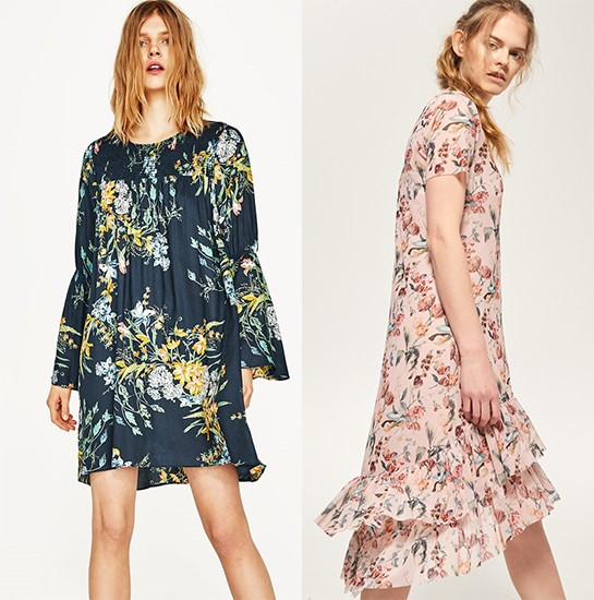 Modne sukienki z sieciówek [1: zara.com | 2: reserved.com]