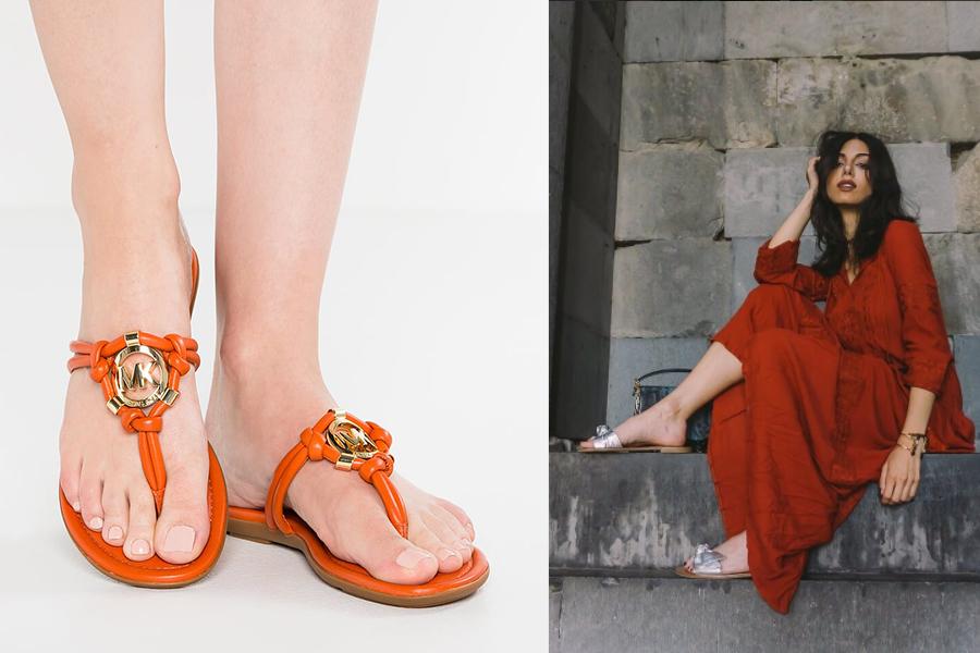 Japonki - wygodne i modne obuwie na lato (fot. zalando, instagram.com/aldo_shoes )