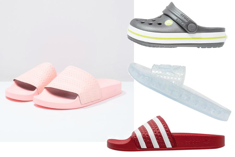 klapki na lato adidas, puma, crocs