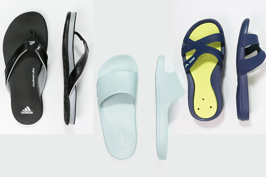Klapki basenowe damskie - różne marki (fot. zalando.pl)