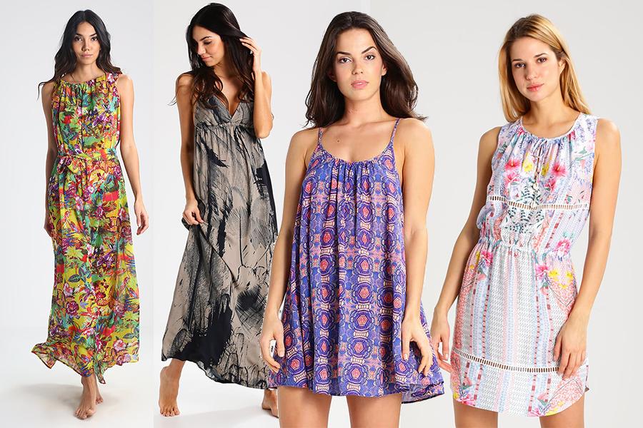 Letnie sukienki na plażę 2017 - różne marki (fot. zalando.pl, kolaż redakcja)