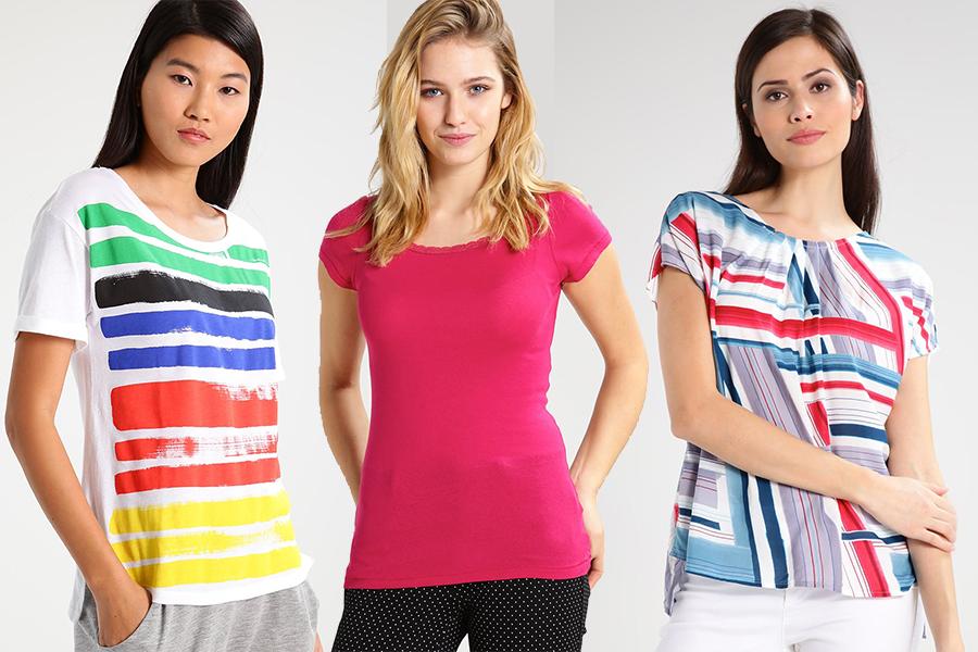 Kolorowe bluzki United Colors of Benetton  dostępne na Zalando (materiały partnera)