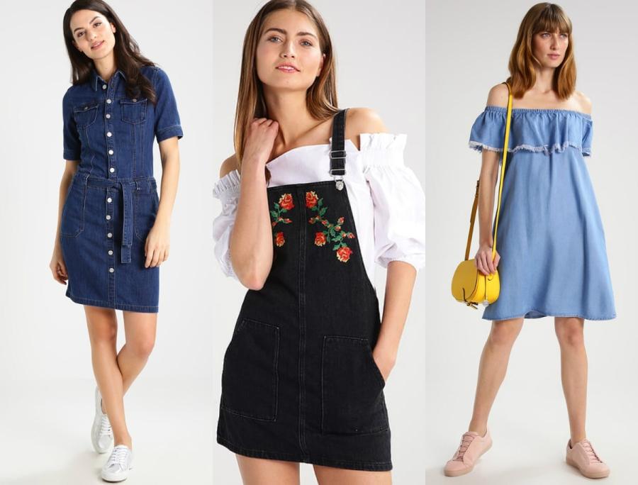 sukienki jeansowe lato