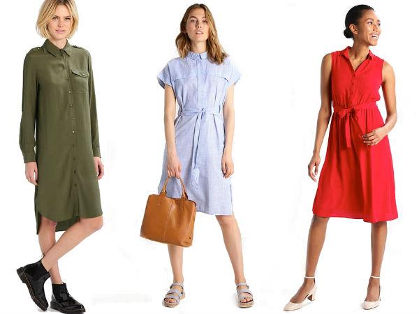 sukienki koszulowe midi
