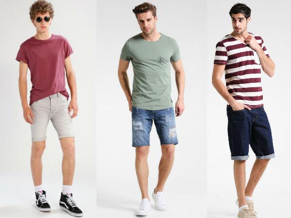 szorty męskie jeansowe