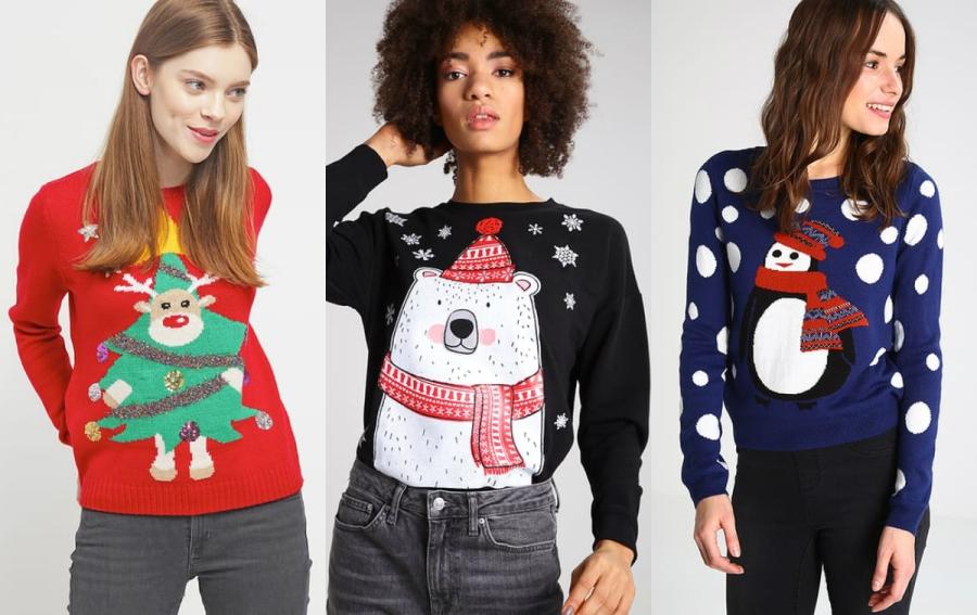 świąteczne swetry damskie