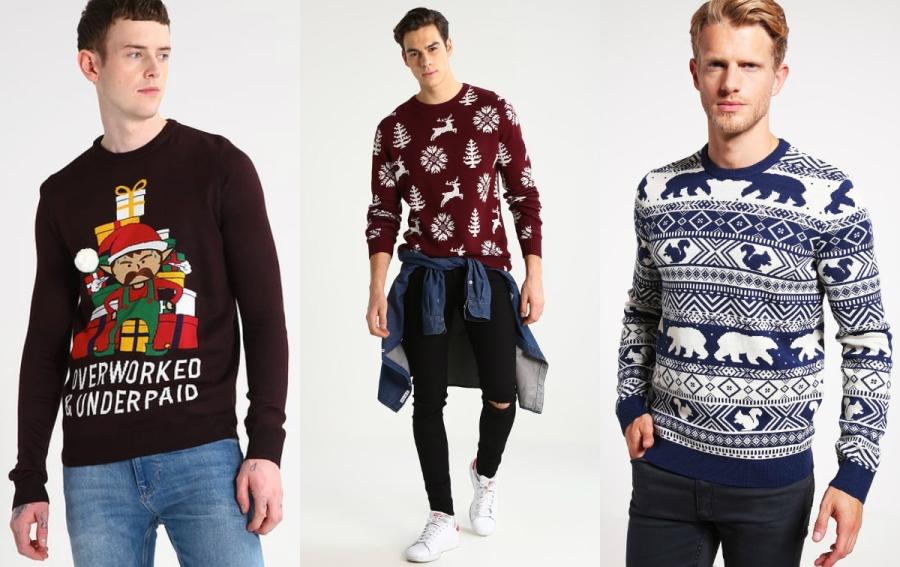 świąteczne swetry męskie
