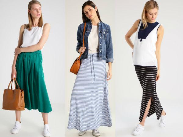 długie spódnice stylizacje