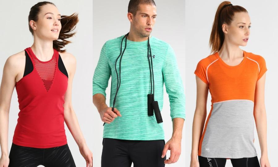 odzież sportowa bluzki