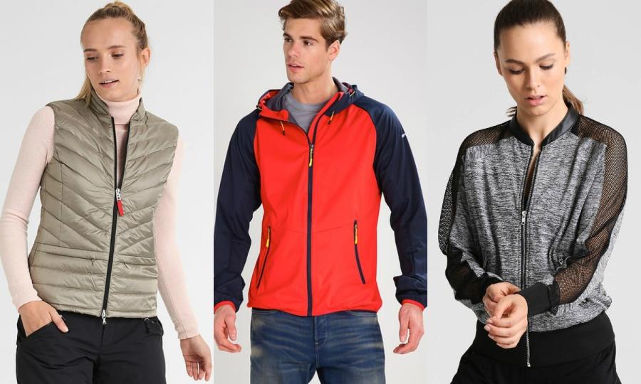 odzież sportowa kurtki i kamizelki