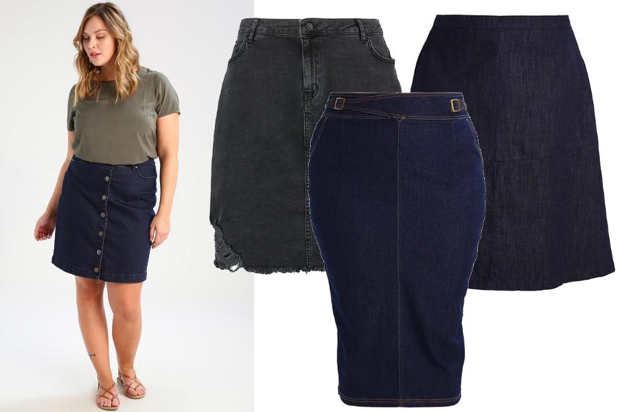 spódnice jeansowe xxl