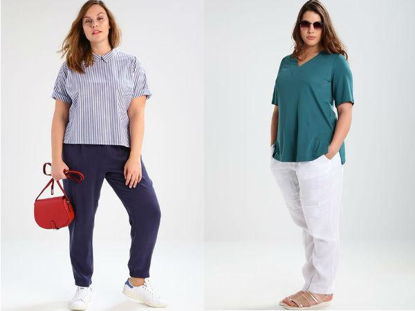 spodnie materiałowe dla puszystych