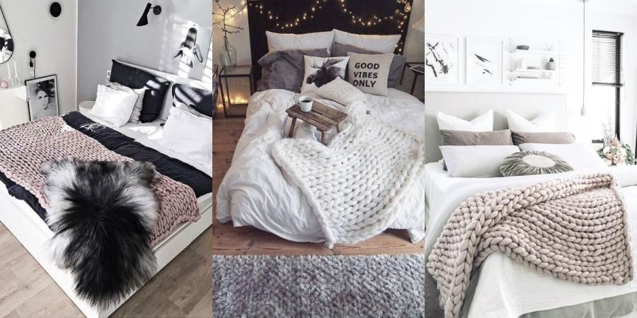 wełniane dodatki sypialnia