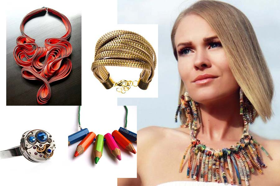 Biżuteria Deko Eko (kolaż redakcja, materiały pinterest.com/dekoeko)