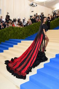 """NEW YORK, NY - MAY 01: Nicki Minaj attends the """"Rei Kawakubo/Comme des Garcons: Art Of The In-Between"""" Costume Institute Gala at Metropolitan Museum of Art on May 1, 2017 in New York City. (Photo by Dimitrios Kambouris/Getty Images)"""