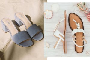 Modne sandały 2017 (fot.. mat. Kiomi, Tamaris)