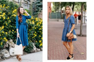 sukienki jeansowe